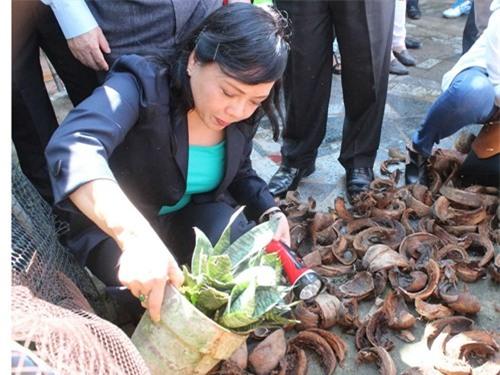Bộ trưởng Nguyễn Thị Kim Tiến kiểm tra việc phòng chống sốt xuất huyết