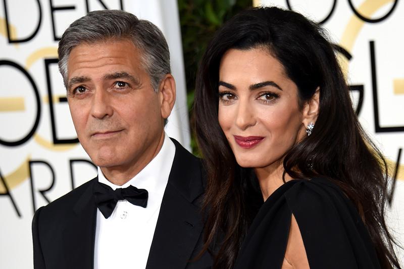 Vợ chồng George và Amal Clooney là minh chứng rõ nét cho công thức: Vợ trẻ + Thông minh = Hạnh phúc. Ảnh: Newsmobile.in