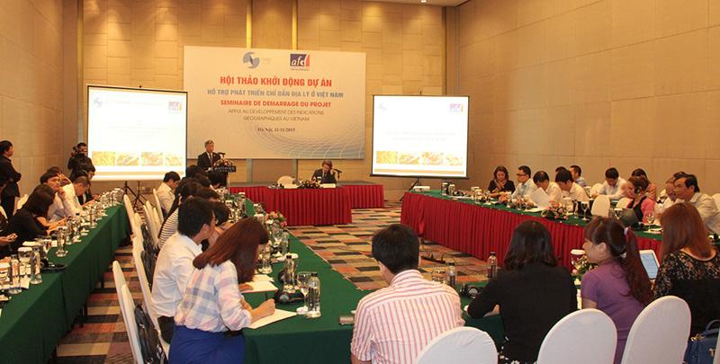 Hội thảo hỗ trợ phát triển chỉ dẫn địa lý ở Việt Nam.