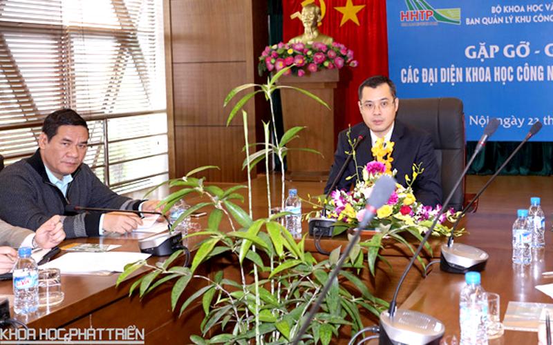Thứ trưởng Bộ KH&CN Phạm Đại Dương phát biểu tại buổi giao lưu. Ảnh: Ngũ Hiệp