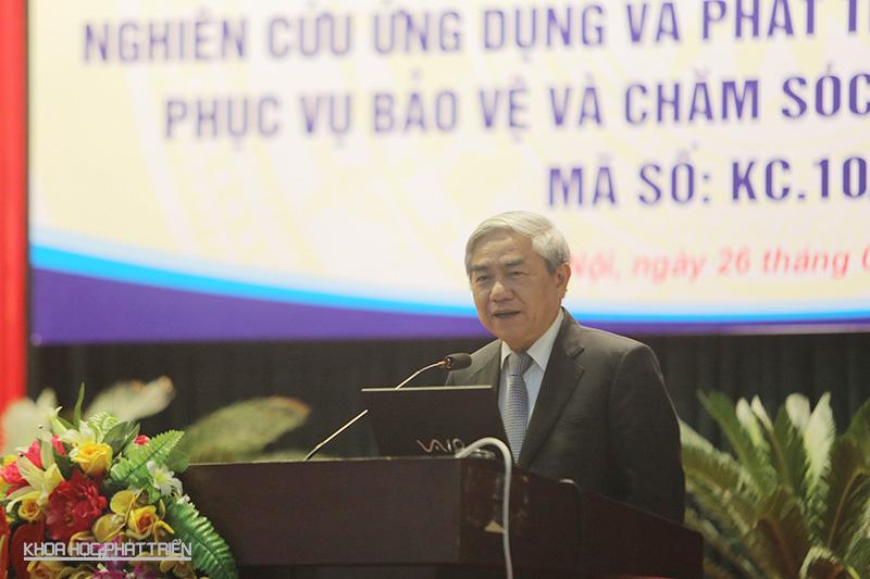Bộ trưởng Nguyễn Quân phát biểu, ghi nhận về thành quả của chương trình KC.10 . Ảnh: Lê Loan