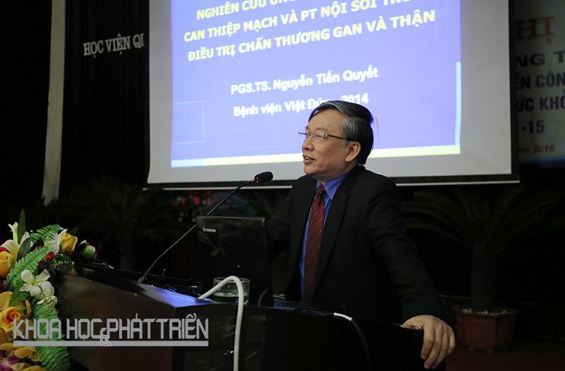 Giáo sư Nguyễn Tiến Quyết. Ảnh: Lê Loan.