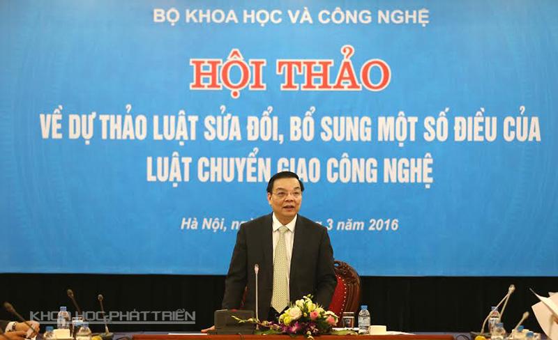 Thứ trưởng Bộ Khoa học và Công nghệ Chu Ngọc Anh phát biểu tại Hội thảo