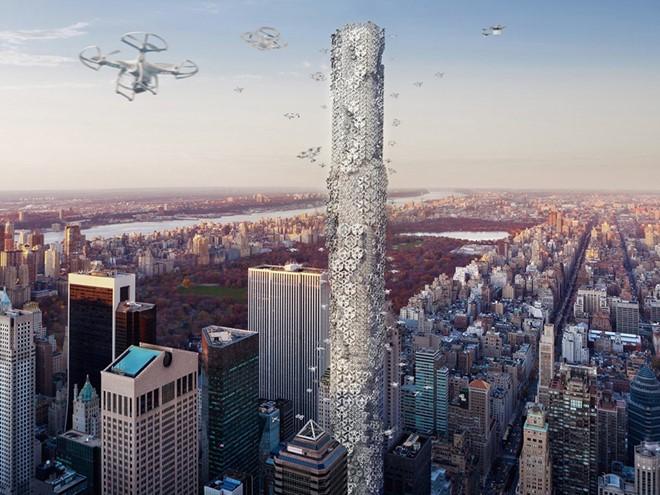 Đứng vị trí thứ 2 là Hive - thiết kế dành cho tương lai khi máy bay không người lái trở nên phổ biến và cần có chỗ đậu riêng trên các toàn nhà cao tầng. Công trình này được thiết kế với nhiều khu đỗ dành cho các loại máy bay không người lái khác nhau.