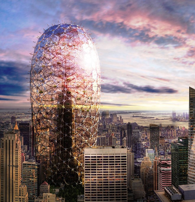Như một nhà kính khổng lồ, Re-Cover là hiện thân cho sự bền vững trong kiến trúc đô thị. Tòa nhà được trang bị hệ thống kiểm soát khi hậu, nhờ đó, con người có thể canh tác nông nghiệp ngay tại đây.