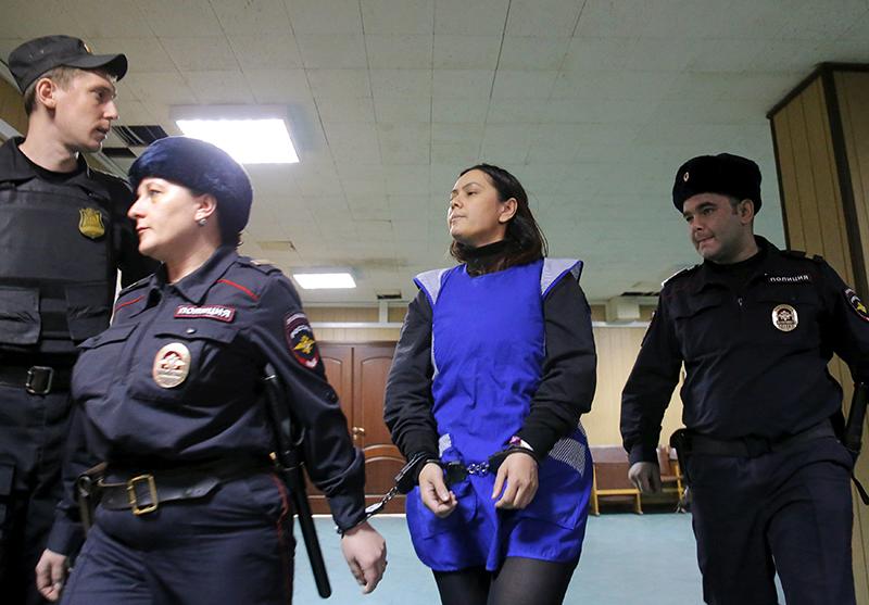 Bảo mẫu Gulchekhra Bobokulova tại phiên xét xử ở Moscow. Ảnh: Japantimes