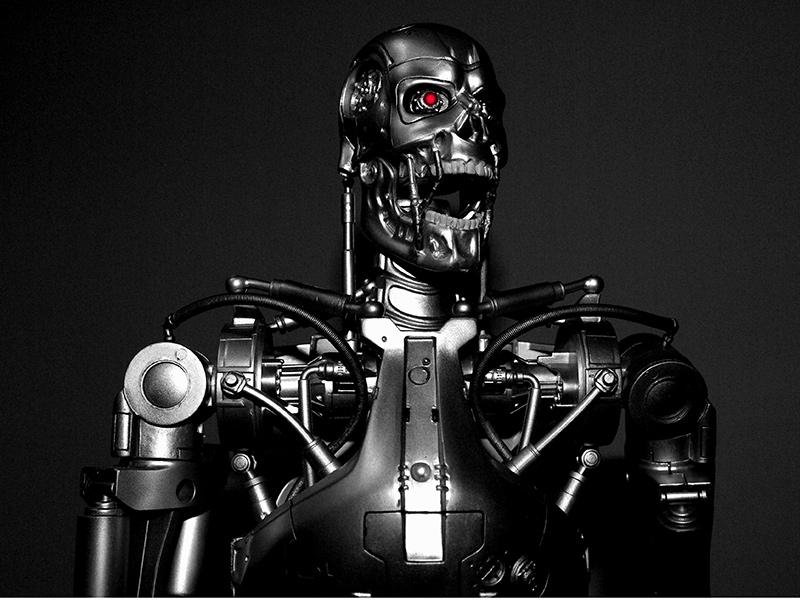 """Robot chiến binh trong bộ phim """"Kẻ hủy diệt"""" của đạo diễn James Cameron. Ảnh: INT"""