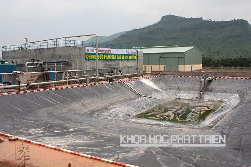 Khu xử lý nước thải tại Công ty thương mại Quảng Trị năm 2015. Ảnh: Khắc Đoàn