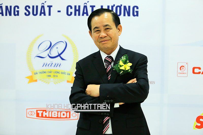 Ông Vũ Ngọc Sang trong lễ trao Giải thưởng Chất lượng Quốc gia 2015. Ảnh: PH