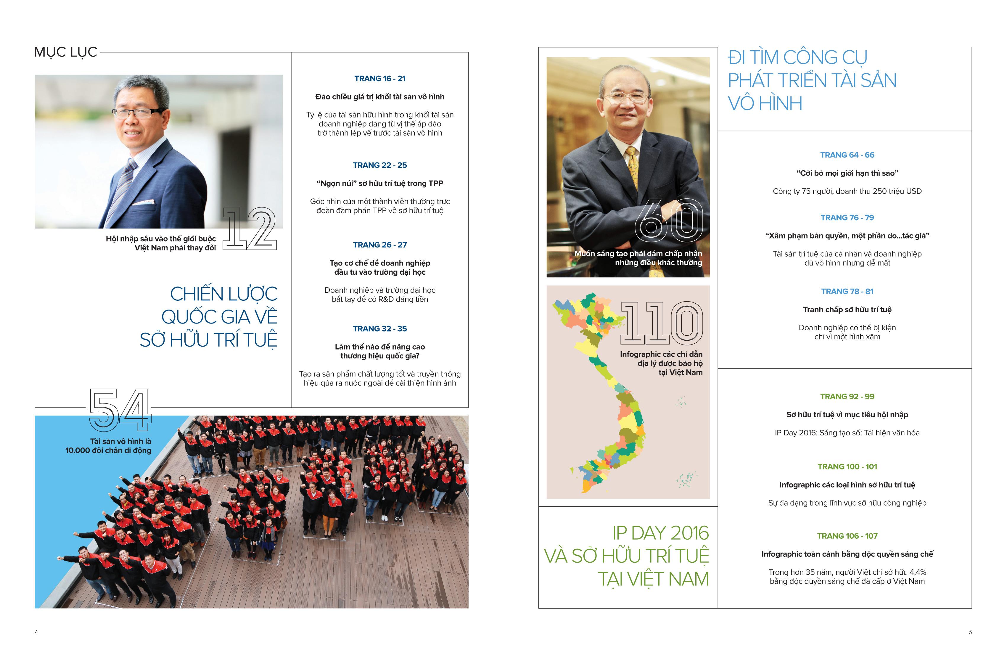 Một số nội dung ấn phẩm Cẩm nang Sở hữu trí tuệ 2016.