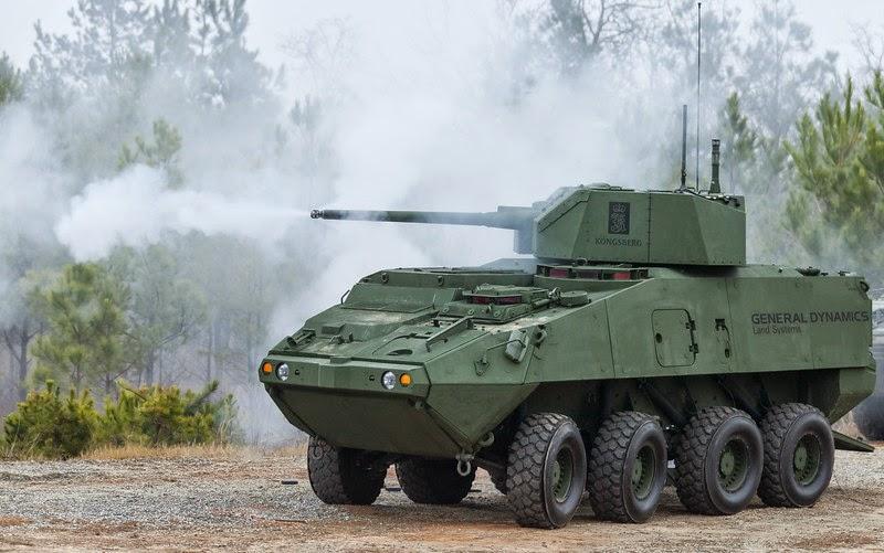 Xe thiết giáp Stryker của General Dynamics đang thử nghiệm pháo 30mm XM813