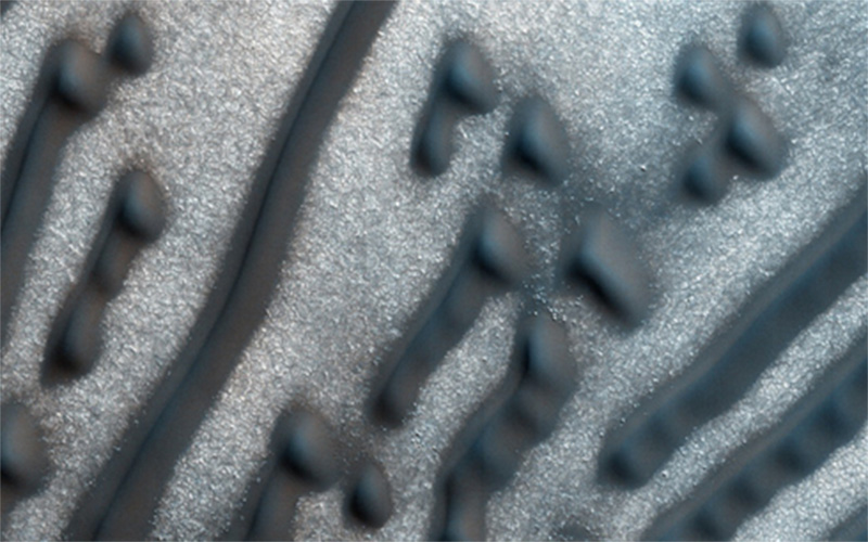 Những đụn cát kỳ lạ trên sao Hoả