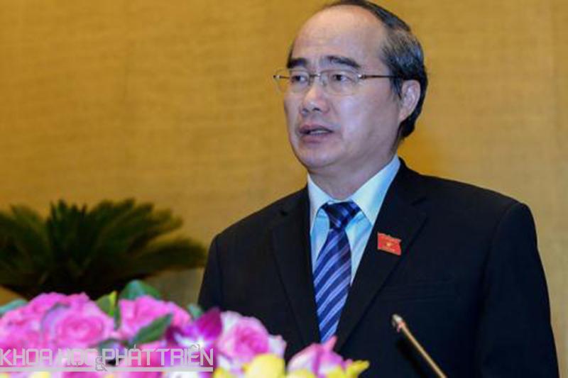 Chủ tịch Ủy ban trung ương Mặt trận Tổ quốc Việt Nam Nguyễn Thiện Nhân. Ảnh: Hồ Như.