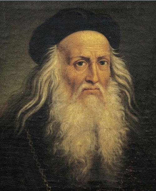 Chân dung Leonardo da Vinci, họa sĩ vĩ đại, nhà bác học, kỹ sư và nhà giải phẫu, một trong những đại diện xuất sắc nhất của nghệ thuật và khoa học thời Phục hưng - Ảnh: Getty