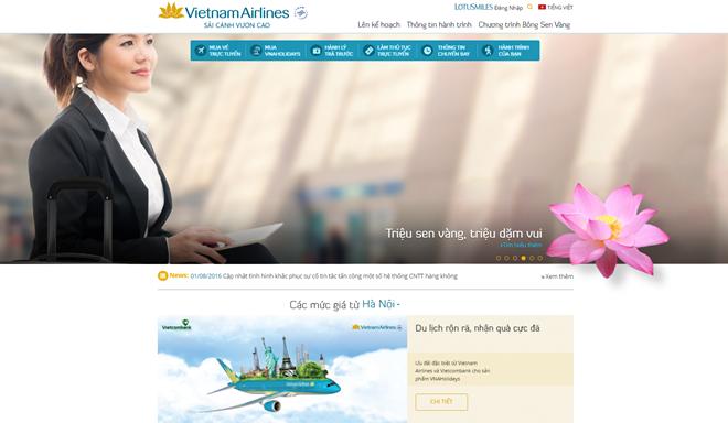 Website của Vietnam Airlines hoạt động bình thường, các giao dịch được thực hiện thông suốt.