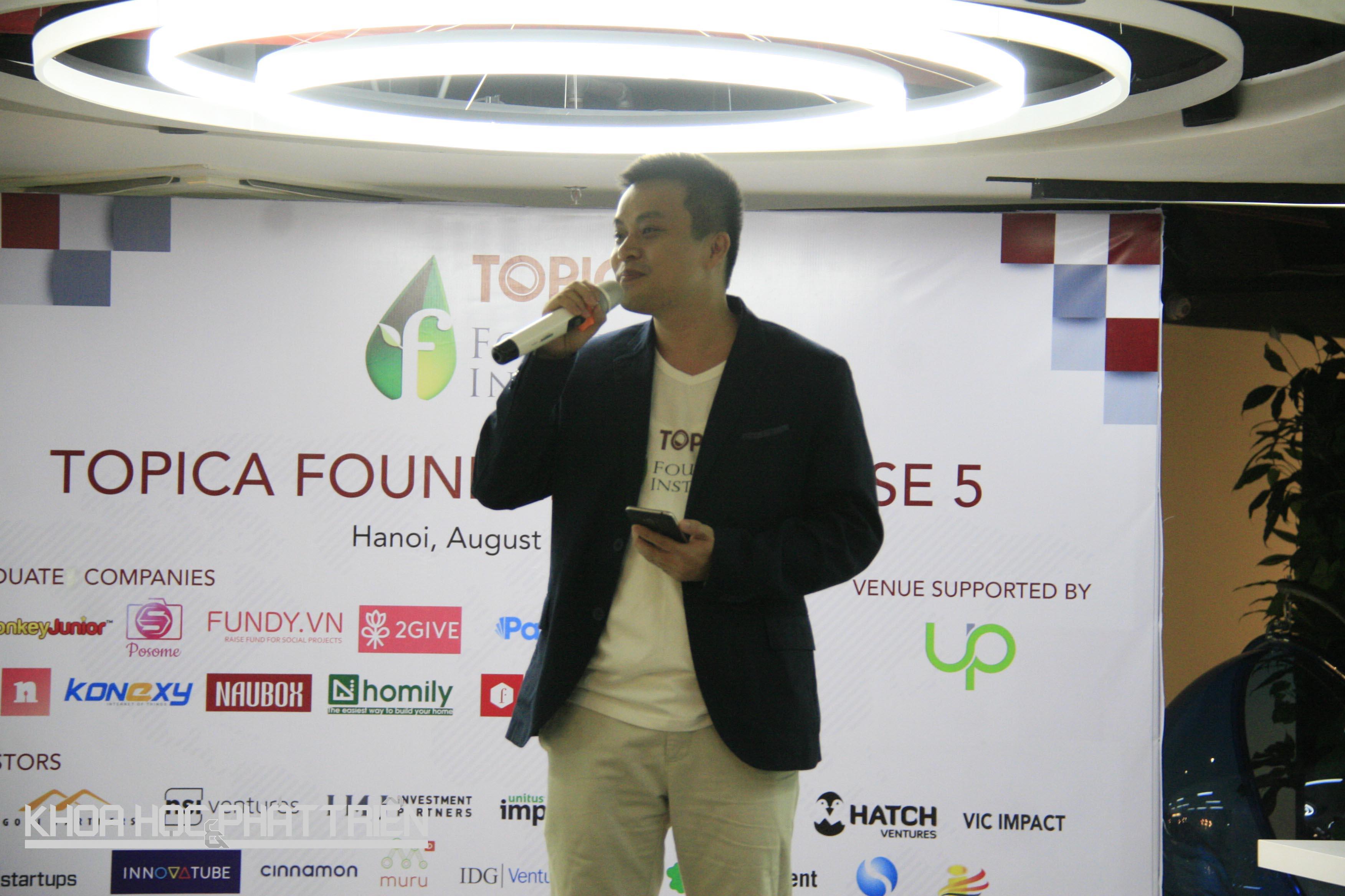 CEO Topica Phạm Minh Tuấn phát biểu khai mạc sự kiện