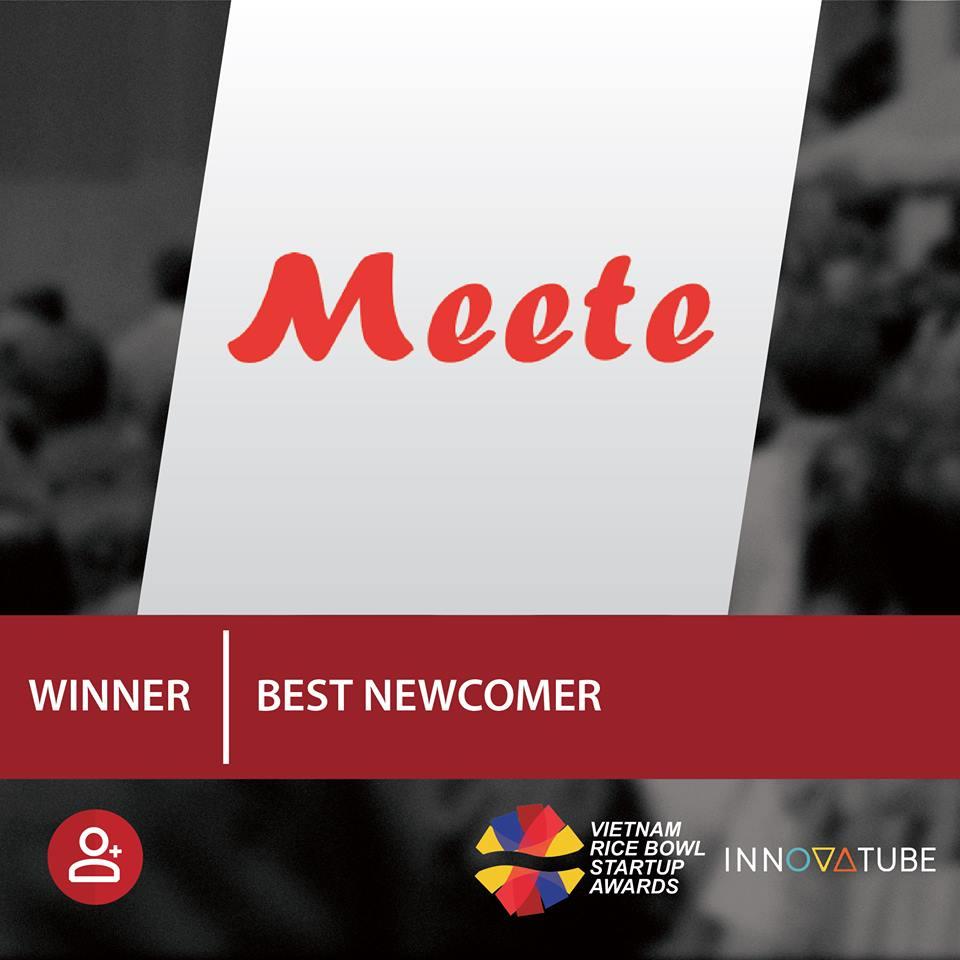 Meete đạt giải Hạng mục Startup mới của năm