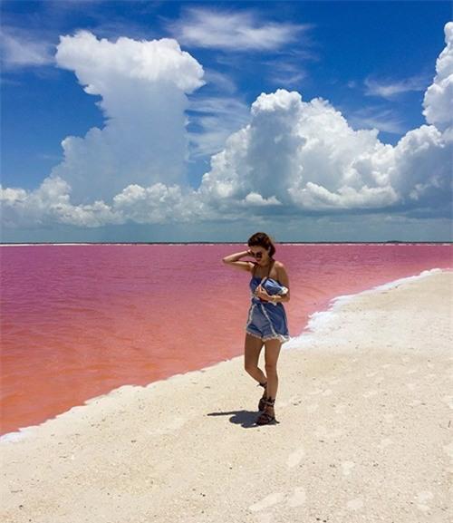 Vẻ đẹp siêu thực của hồ nước màu hồng 'có một không hai' ở Mexico - ảnh 1