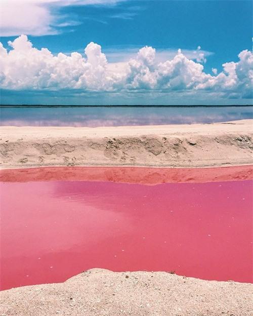 Vẻ đẹp siêu thực của hồ nước màu hồng 'có một không hai' ở Mexico - ảnh 2