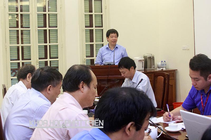 Thứ trưởng Trần Quốc Khánh phát biểu chỉ đạo tại buổi sơ kết. Ảnh: Quang Trí