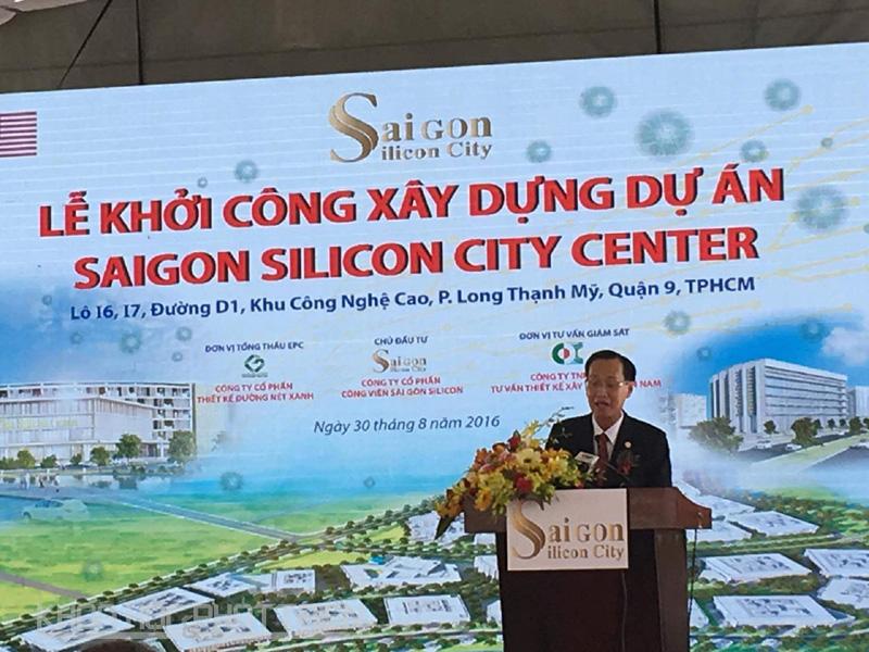Phó Chủ tịch UBND Tp.HCM Lê Thanh Liêm phát biểu tại buổi lễ