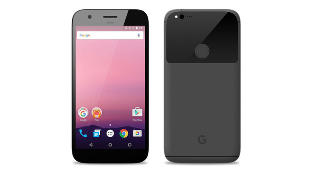 """Smartphone """"Made by Google""""."""