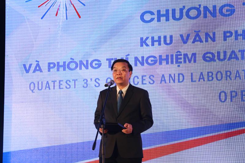 Bộ trưởng Chu Ngọc Anh phát biểu tại Lễ Khai trương