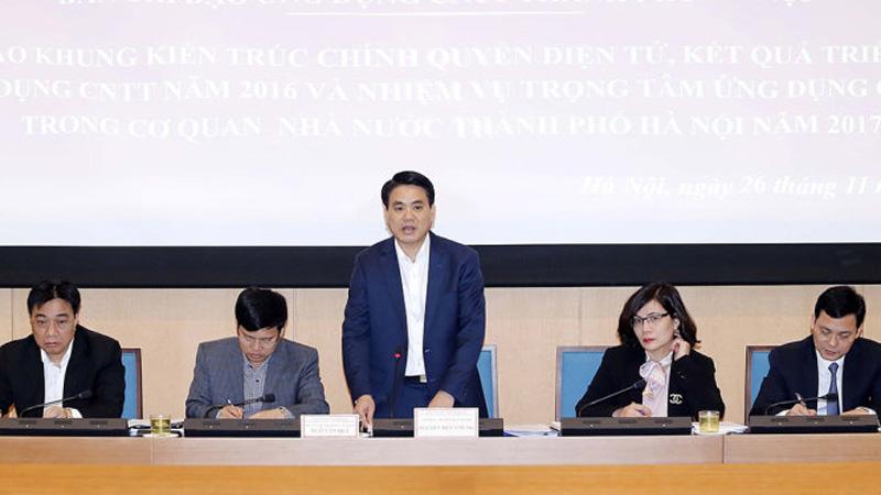Chủ tịch UBND TP Hà Nội Nguyễn Đức Chung cho biết năm 2017 Hà Nội sẽ tập trung xây trung tâm điều hành chung về CNTT để điều hành giao thông