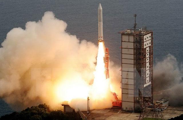Tên lửa Epsilon. Ảnh: AFP/TTXVN).