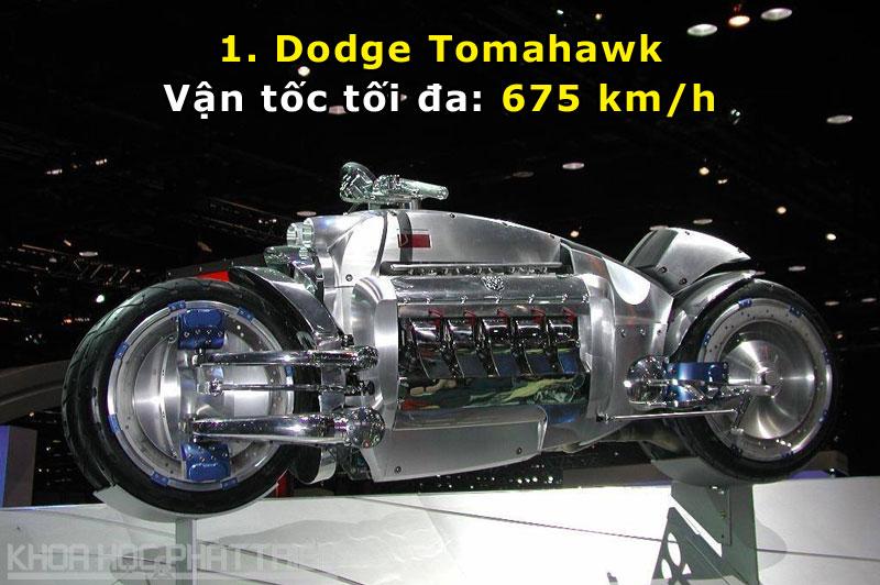 Top 10 môtô nhanh nhất năm 2016 Dodge Tomahawk Gi Bao Nhi U on