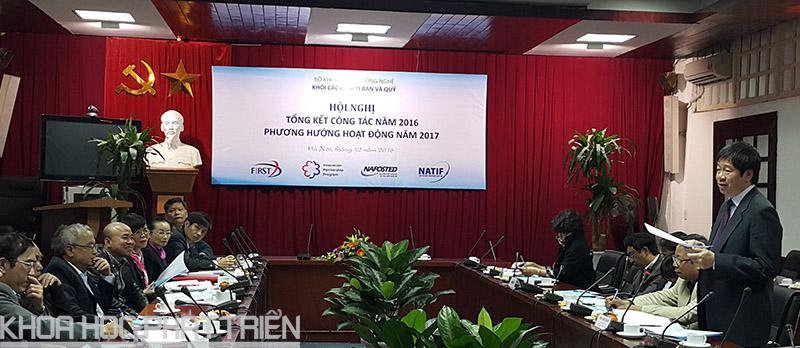 Thứ trưởng Trần Quốc Khánh phát biểu tại hội nghị tổng kết.
