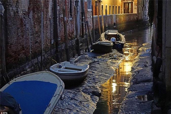 Sự thiếu nước trầm trọng của Venice cũng làm lộ ra các bức tường tróc lở, đổ nát của những tòa nhà có lịch sử lâu đời.