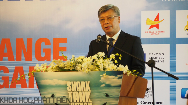 Thứ trưởng Bộ KH&CN Trần Việt Thanh phát biểu tại sự kiện công bố chương trình Shart Tank