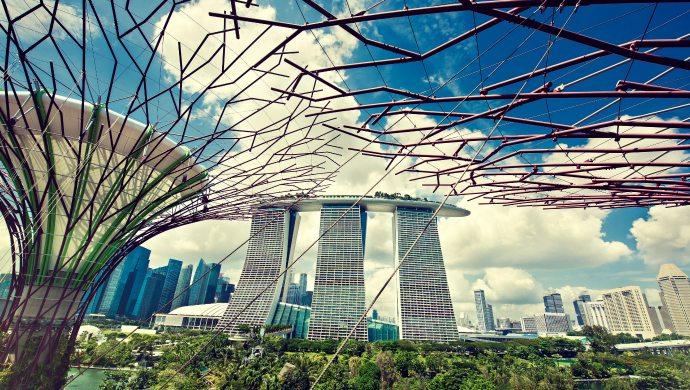 Khu tổ hợp Marina Bay Sands - một trong những biểu tượng của Singapore.
