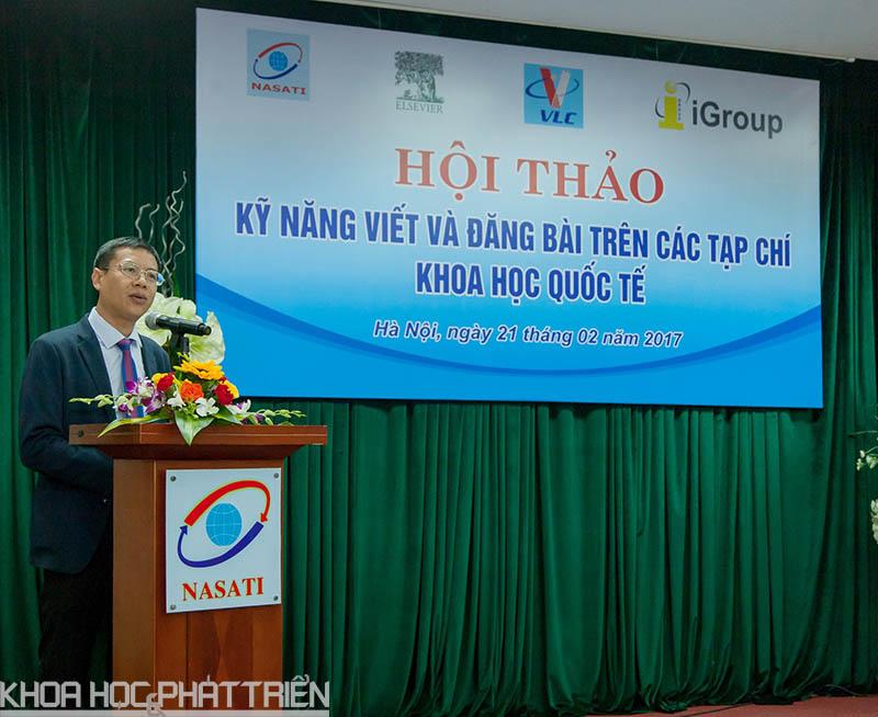 TS Lê Xuân Định phát biểu khai mạc hội thảo.