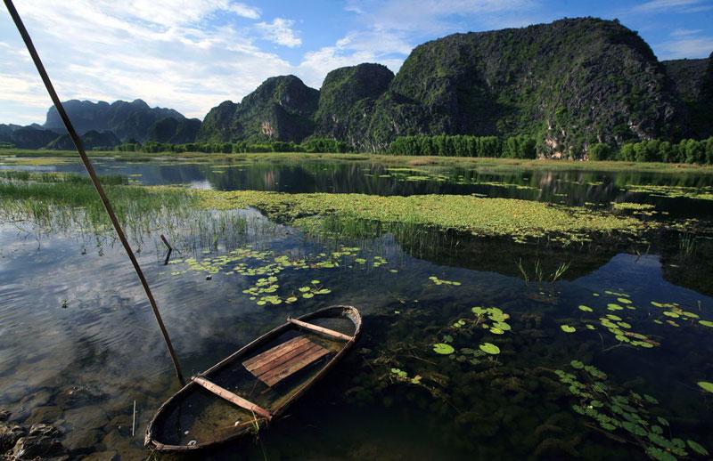 Đặc biệt đây là hiện trường nghiên cứu đa dạng sinh học rất quý của hai hệ sinh thái này và là hiện trường nghiên cứu loài voọc quần đùi lớn nhất của Việt Nam vì có số lượng cá thể lớn, dễ quan sát nhất so với các sinh cảnh của voọc quần đùi ở địa phương khác. Ảnh: Le Bich.