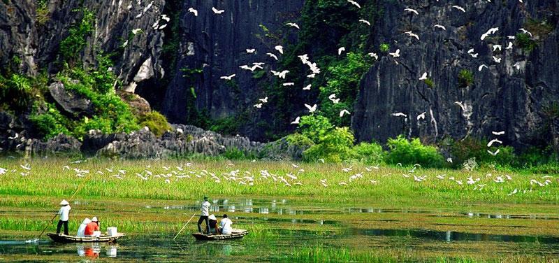 Vân Long được đưa vào khai thác du lịch từ năm 1998 và hiện là một trọng điểm du lịch của Quốc gia Việt Nam.