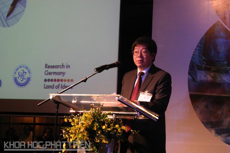 Thứ trưởng Bộ KH&CN Trần Quốc Khánh phát biểu khai mạc sự kiện.
