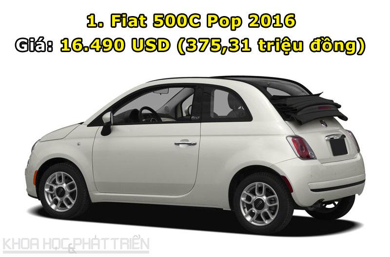 1. Fiat 500C Pop 2016.