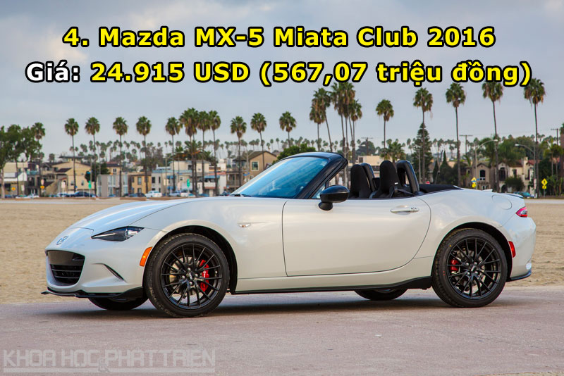 4. Mazda MX-5 Miata Club 2016.