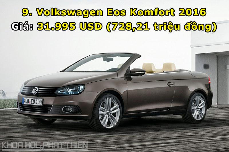 9. Volkswagen Eos Komfort 2016.