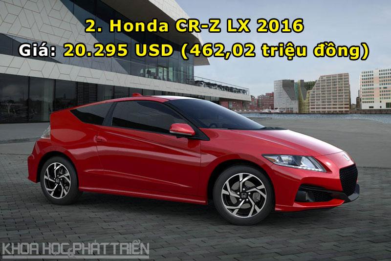 2. Honda CR-Z LX 2016.
