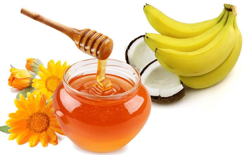 Sinh tố chuối mật ong.