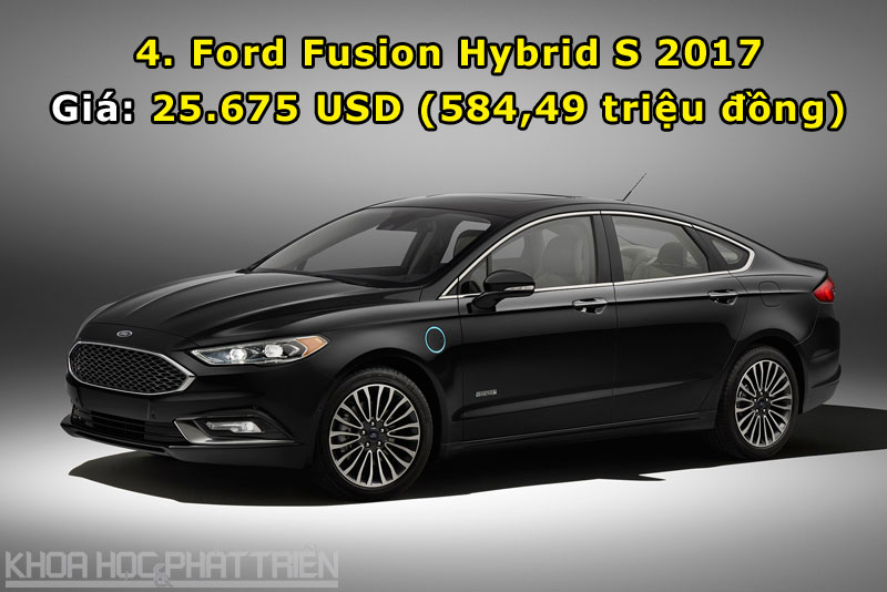 4. Ford Fusion Hybrid S 2017.