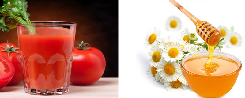 Nước ép cà chua mật ong.