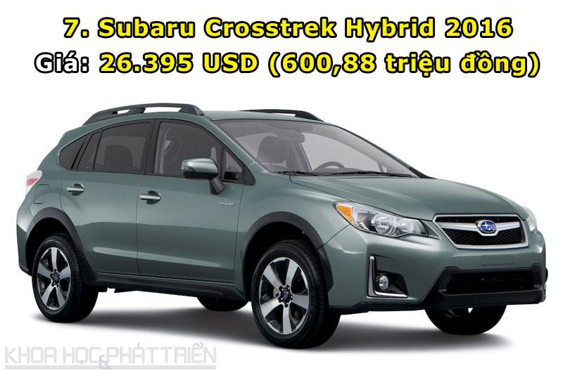 7. Subaru Crosstrek Hybrid 2016 phiên bản cơ sở.