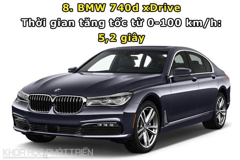 8. BMW 740d xDrive.