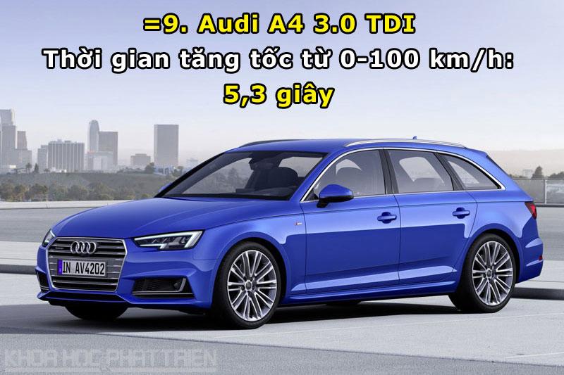 =9. Audi A4 3.0 TDI.