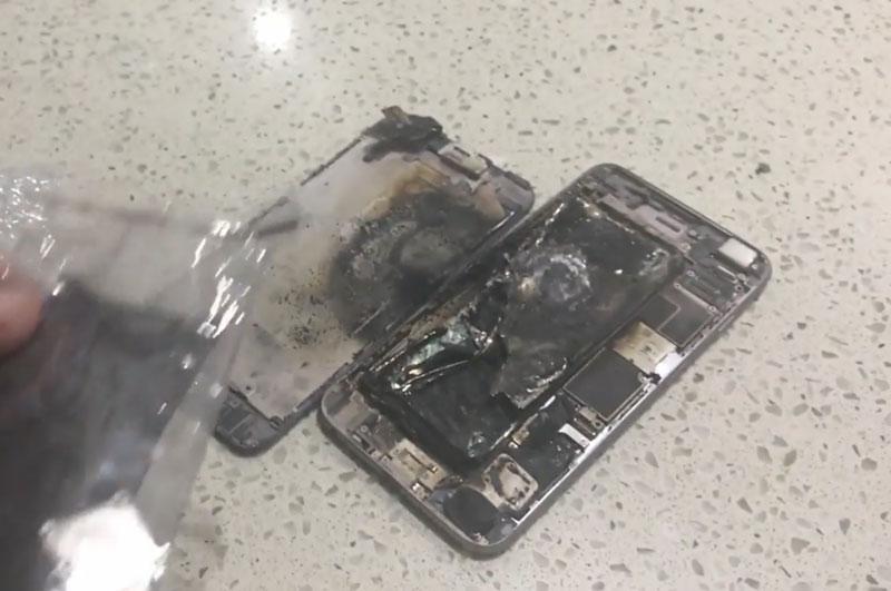 iPhone 6 Plus hư hỏng nặng sau khi bị nổ.