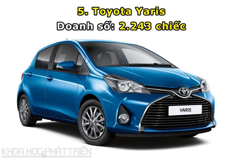 5. Toyota Yaris.